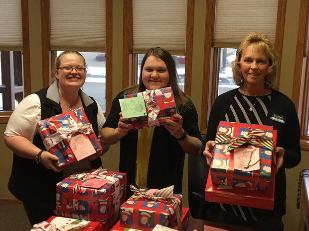 East River FCU Staff with Angel Tree Gifts