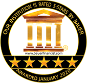 Our institution is rated 5-stars by Bauer. Awarded January 2020